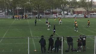Things end all tied up between Canarsie and NYC Hustle HS, 14-14