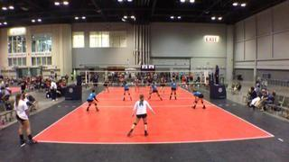 Carolina UVC 18 Blue defeats Mizuno M1 182, 2-0