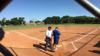 Things end all tied up between Glory Adkins Gold 07 and Texas Bombers 12U Gold