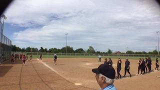 Things end all tied up between Central Florida Eagles Select Rip-It 14u and Oklahoma Pure Fastpitch 14U- Melson
