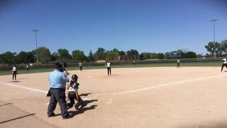 Things end all tied up between Wisconsin Lightning Premier and Wheatland Spikes 14U-04 Showcase