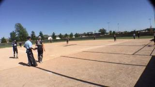 Things end all tied up between Illinois Chill Gold 18U and Dirt Devils Elite