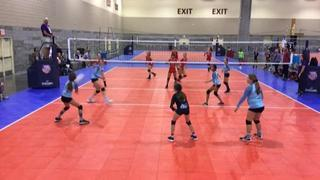 San Clemente 12 Black (SC) (40) defeats ECVBA 12Ryan (SC) (56), 1-1