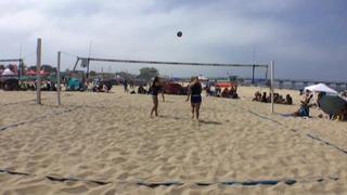 Abigail Converse / Kate Fitzgerald victorious over Annika Stevens / Elena Sanchez, 0-0