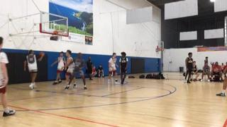 Los Angeles Elite Hollingsworth (3) picks up the 84-63 win against Colorado Cardinals Red (30)