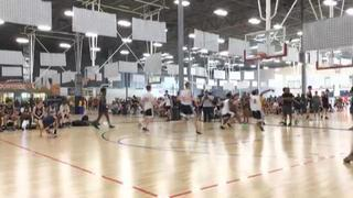 The Legion of Hoops White (5) wins 65-49 over California Select Red (21)