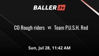 CO Rough riders vs Team P.U.S.H. Red