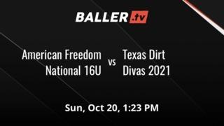 American Freedom National 16U vs Texas Dirt Divas 2021