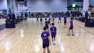 A4 Volley 16 Boys (SC) (38) defeats COAST 16-Gio (SC) (37), 2-0