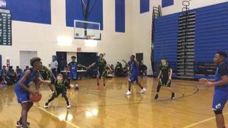 Team Dominate puts down Unity Sports Academy 13u with the 53-40 victory